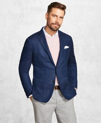 Brooks Brothers Golden Fleece Blue Herringbone Sport Coat