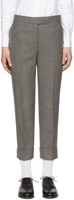 Thom Browne Grey Classic Backstrap Trousers $1,080 thestylecure.com