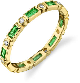 Sydney Evan Baguette And Round Eternity Band