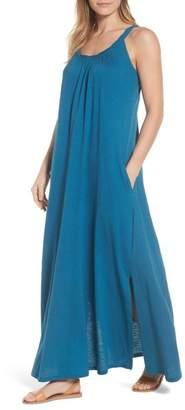 Caslon R R) Twist Neck Maxi Dress (Regular, Petite & Plus Size)