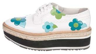 Prada Appliqué Platform Oxfords