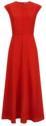 Victoria Beckham Cap Sleeve Midi Dress