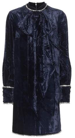 Gucci Embellished velvet dress