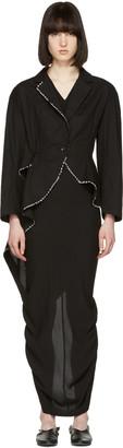 Yohji Yamamoto Black Stitched Tailcoat Blazer $2,520 thestylecure.com