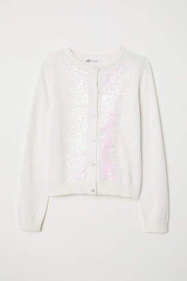 H&M Cardigan with Sequins - White