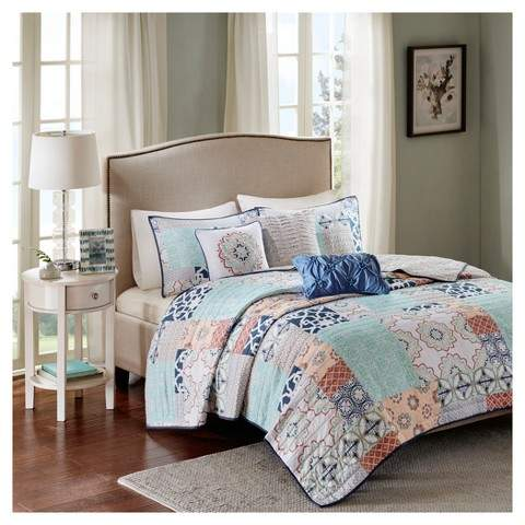 Calypso Quilted Coverlet Set 6pc