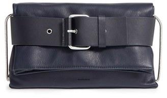 ALLSAINTS 'Zoku' Leather Clutch $298 thestylecure.com