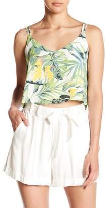 June & Hudson Tropical Printed Strappy Tank Top