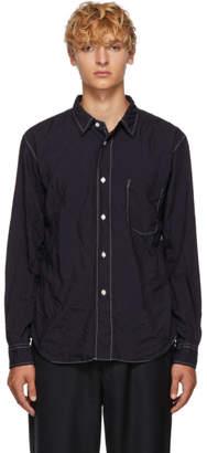 Comme des Garcons Homme Deux Navy Wrinkled Shirt