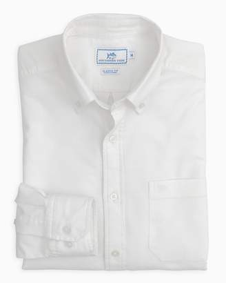 Southern Tide Channel Marker Oxford Solid Sport Shirt