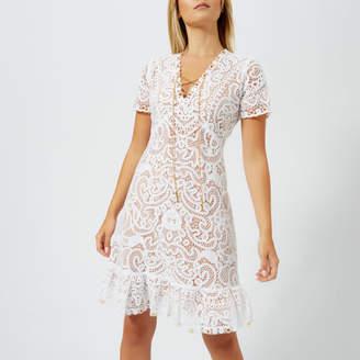 MICHAEL Michael Kors Women's Ruffle V Neck Dress