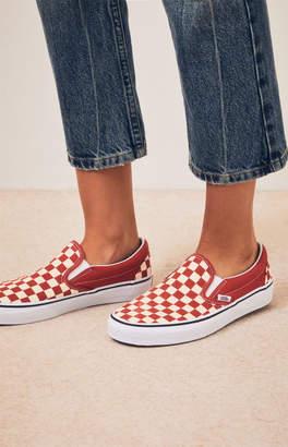 Vans Women's Burnt Orange Slip-On Sneakers