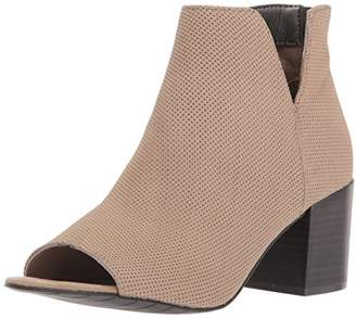 Kenneth Cole Reaction Women's Ride Fast PEEP Toe Bootie Ankle Notch Boot, 10 M US
