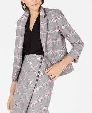Bar III Plaid Notch-Collar Blazer, Created for Macy's