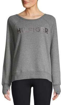 Tommy Hilfiger Logo Raglan-Sleeve Sweater