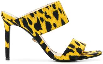 Versace animal print mules