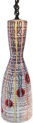 One Kings Lane Vintage Eyelit Textural Hanging Pendant Lamp - Laurie Frank