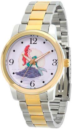 DISNEY PRINCESS Disney Princess Ariel The Little Mermaid Womens Two Tone Bracelet Watch-Wds000233