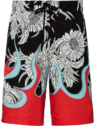 Prada Nylon gabardine swim trunks