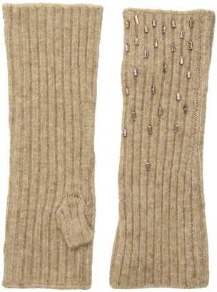 Lauren Ralph Lauren Baguette Rhinestone Armwarmer Dress Gloves