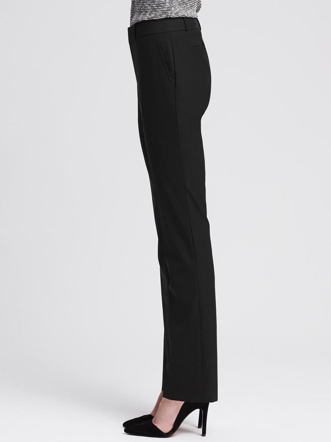 Banana Republic Martin-Fit Black Lightweight Wool Trouser