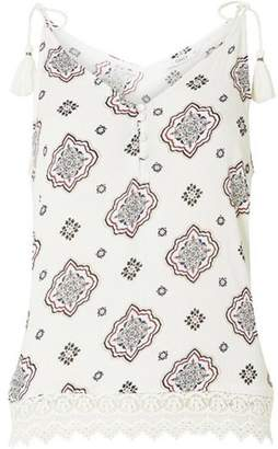Dorothy Perkins Womens **Only White Tassel Camisole Top