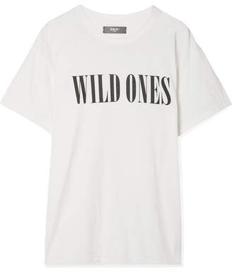 Amiri Printed Cotton-jersey T-shirt - White