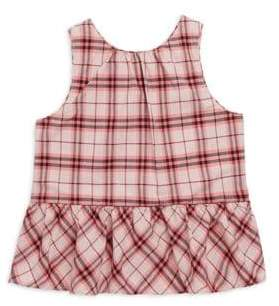 Burberry Little Girl's& Girl's Carma Check-Print Top