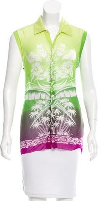 Jean Paul Gaultier Sleeveless Printed Top $65 thestylecure.com