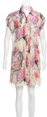 Charlotte Ronson Printed Silk Dress