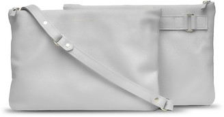 Holly & Tanager Companion Max Leather Crossbody Clutch In Cream