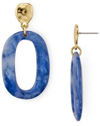 Aqua Oval Lucite Earrings - 100% Exclusive