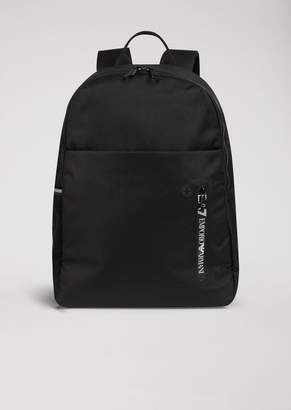 Emporio Armani Ea7 Soft Nylon Backpack With Rubber Headphone Port