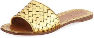 Bottega Veneta Intrecciato Napa Flat Slide Sandal