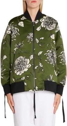 Moncler Thimpou Floral Print Bomber Jacket