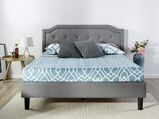 Zinus Upholstered Scalloped Button Tufted Platform Bed with Wooden Slat Support/Design Award Finalist