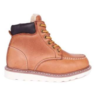 Sale - Worker Pad Fur Leather Boots - Rugged Gear