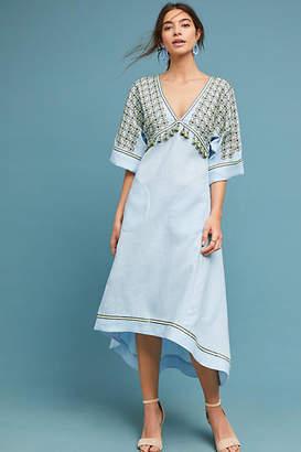 Vyshyvanka by Sleeping Gypsy Alushta Embroidered Midi Dress