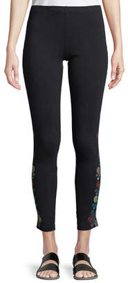 Johnny Was Voltage Embroidered Leggings, Plus Size