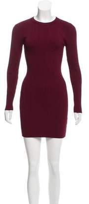A.L.C. Rib Knit Long Sleeve Dress