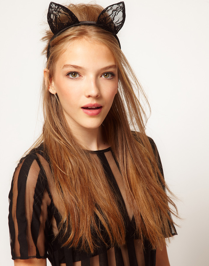 ASOS Cat Ears Lace Headband