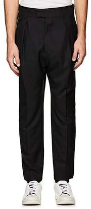 Officine Generale MEN'S PLEATED WOOL TROUSERS