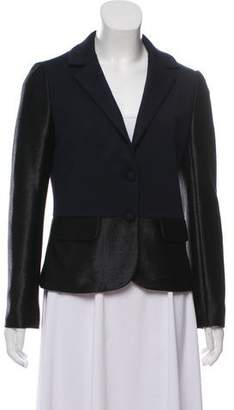 Tory Burch Notched Lapel Textured Blazer