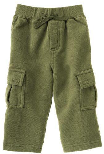 Green Fleece Cargo Pant