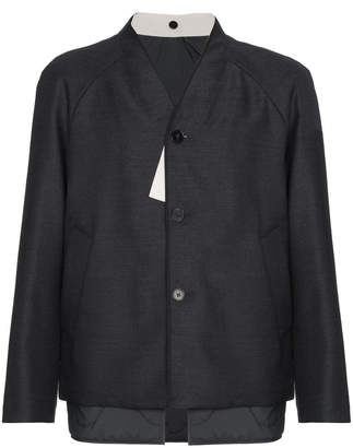 Jil Sander Wool collarless jacket