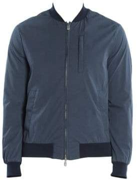 Eleventy Water-Resistant Cotton Bomber Jacket