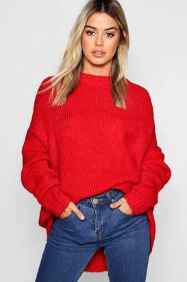 c8e39e90aa10 boohoo Red Rib Knit Women's Sweaters - ShopStyle