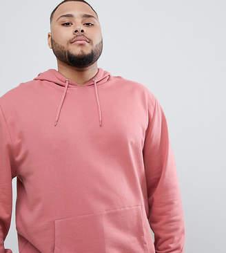 Asos DESIGN plus hoodie in pink