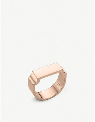 Monica Vinader Signature Wide 18ct rose gold vermeil on sterling silver wide ring