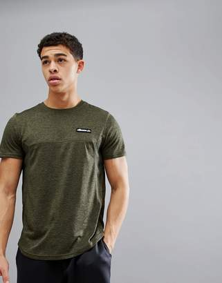 Ellesse Sport T-Shirt With Mesh Panels In Olive